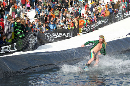 pond skimming in crested butte